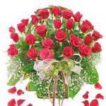 Send 24 Red Roses in a Basket to Pakistan
