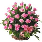 Send 30 Pink Roses in Basket to Pakistan