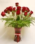 Send Two Dozen Red Roses in Vase to Pakistan